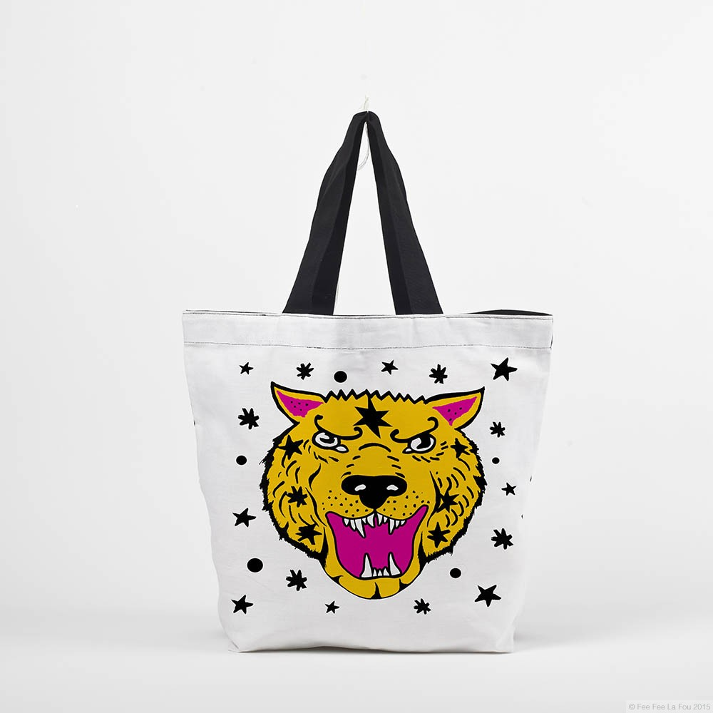 aida 39 s tiger tote bag accessories online shop. Black Bedroom Furniture Sets. Home Design Ideas
