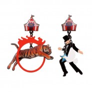 The Tiger, Magician & Ring Of Fire Earrings