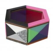 Rainbow Argyle Hexagonal Bangle