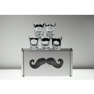 Set of 5 Moustache Shot Glasses