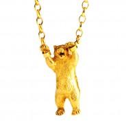 Hand-cuffed Bear Necklace