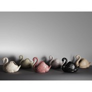 Mid Century Swan Vase