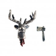 Stag's Head Off Earrings