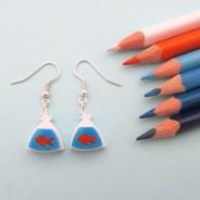 Goldfish In A Bag Earrings