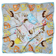 Stocks & Shares Silk Scarf