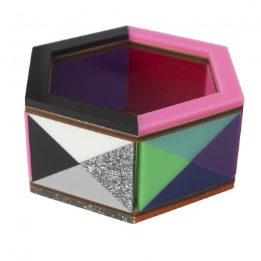 Rainbow Argyle Hexagonal Bangle